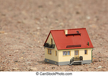 House model on ground