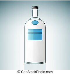 Vodka Bottle (part of the Alcohol Glass Icons Set)