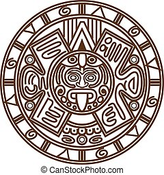 Mayan calendar - Vector illustration stylized image of...