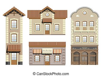 Set classical facades