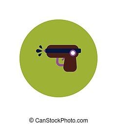 stylish icon in color circle water gun - stylish icon in...
