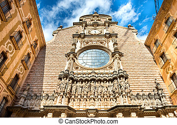 Exterior of Montserrat Benedictine monastery, near...