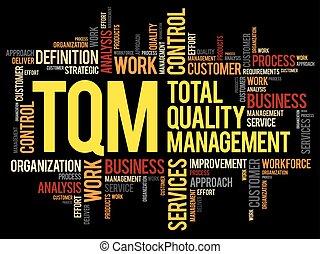TQM - Total Quality Management word cloud, business concept...