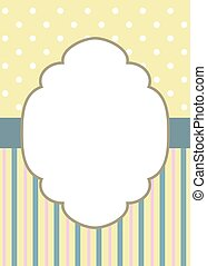 stripes and polka dot on yellow - Greeting card template...