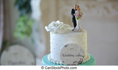 The top of a wedding cake.