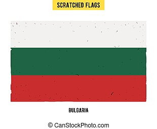 Bulgarian grunge flag with little scratches on surface A...