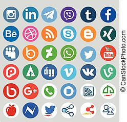 Social Media Different Icon Set