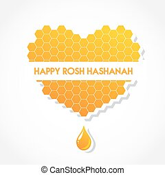 greeting card for Jewish holiday Rosh Hashanah abstract...