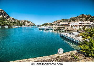 small harbor in Poltu Quatu, Sardinia