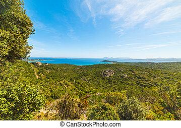 Costa Smeralda coastline in Sardinia, Italy