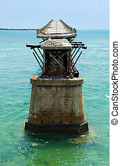 Bahia Honda Rail Bridge - The Old Bahia Honda Rail Bridge at...