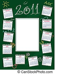 Calendar 2011 - Cute 2011 Calendar with place for kidu2019s...
