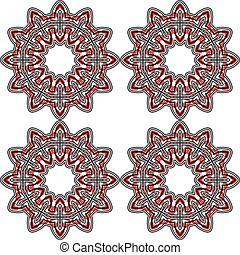 Geometric eastern seamless pattern for background design.