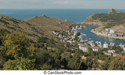 Balaklava is popular Crimean resort Bay former submarine...