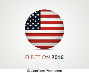 American election 2016 emblem badge logo with text. -...