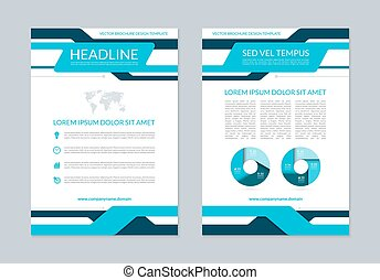 Flyer brochure annual report layout template A4 size Front...