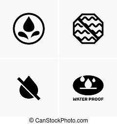 Waterproof symbols