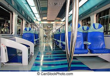 subway, subway train cabin inside the car - Cabin metro...