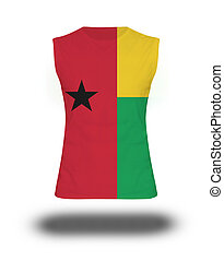 athletic sleeveless shirt with Guinea - Bissau flag
