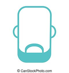 faceless man with facial hair icon - flat design faceless...