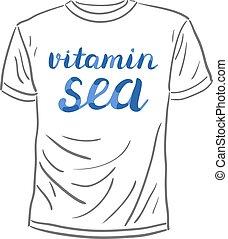 Vitamin sea lettering - Vitamin sea Brush hand lettering...