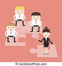 The Business Situation - Business situation. Business people...