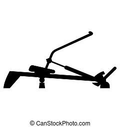 Vector illustration of rowing machine trainer