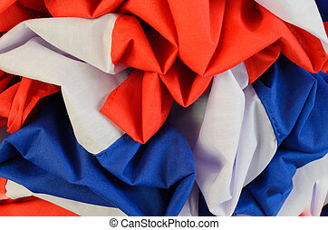 Red, white and blue cloth color crease darn offseason