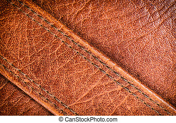 old Brown leather and stitch