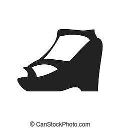 heel shoe fashion cloth icon Vector graphic - heel shoe...