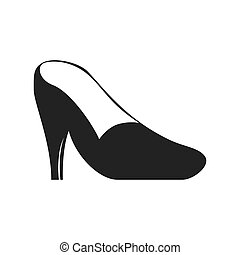 heel shoe fashion cloth icon. Vector graphic - heel shoe...