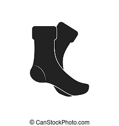 boot shoe fashion cloth icon. Vector graphic - boot shoe...