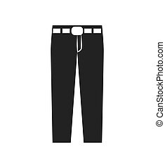 Pants jeans fashion cloth icon Vector graphic - Pants jeans...