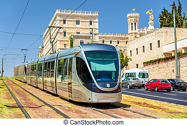 Light rail system in Jerusalem - Israel