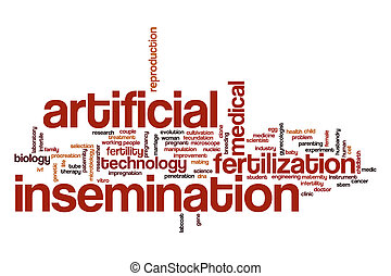 Artificial insemination word cloud concept - Artificial...