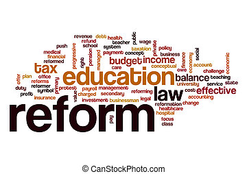Reform word cloud concept - Reform word cloud