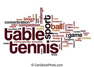 Table tennis word cloud concept - Table tennis word cloud