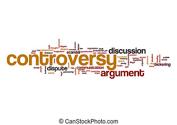 Controversy word cloud concept - Controversy word cloud