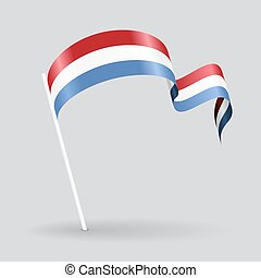 Luxembourg wavy flag Vector illustration - Luxembourg pin...