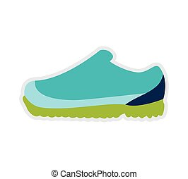 running shoe fashion cloth icon. Vector graphic - running...