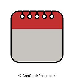 calendar planner day time agend icon. Vector graphic -...