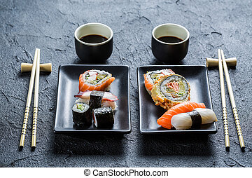 Sushi dinner for two people