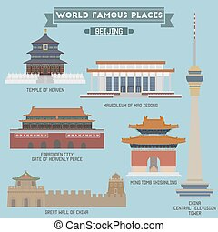 Famous Places in Beijing, China Temple of Heaven, Mausoleum...