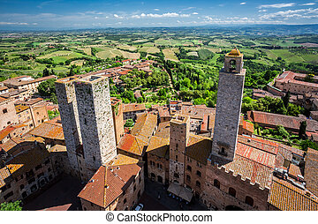 View of the city San Gimignano, Italy