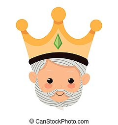 gaspar magi icon - flat design gaspar magi icon vector...