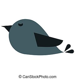 cute cartoon bird icon