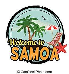 Welcome to Samoa stamp