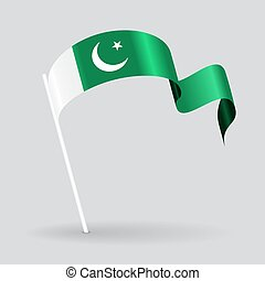 Pakistani wavy flag Vector illustration - Pakistani pin icon...