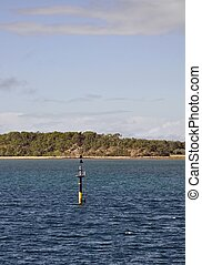 Big Woody Island - view across the Great Sandy Straits...