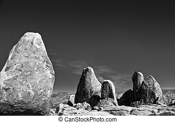 The Sisters of Alabama Hills - The Alabama Hills are a range...